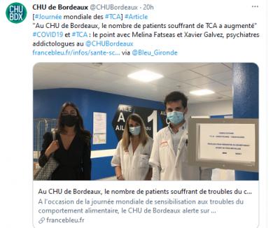 Le CHU de Bordeaux dans France Bleu Gironde pour parler TCA