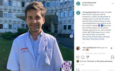 LE CHU de Bordeaux parle TCA sur Instagram