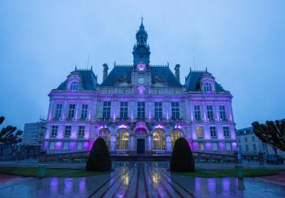 Mairie de Limoges en violet Copyright Bordas Ville de Limoges